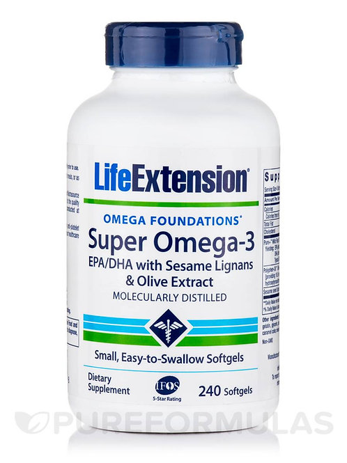 Super Omega-3 by Life Extension 240 Softgel