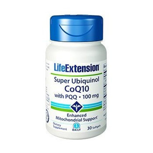 Super Ubiquinol CoQ10 with PQQ 100mg 30 Softgels by Life Extension