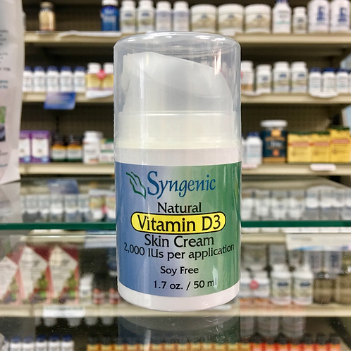 Vitamin D-3 Skin Cream 2,000IU by Syngenic