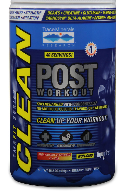 CLEAN Post-Workout by Trace Minerals 40 Serving