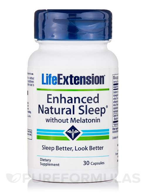 Enhanced Natural Sleep with Melatonin 30 Caps by Life Extension