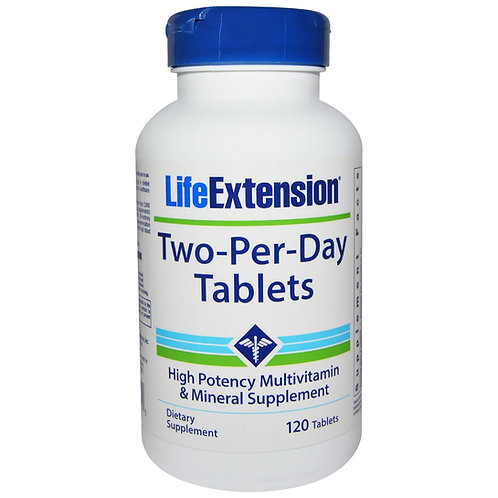 Two-Per-Day Multivitamin 120 Tab by Life Extension
