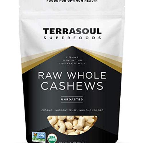Raw Whole Cashews 16oz by Terrasoul