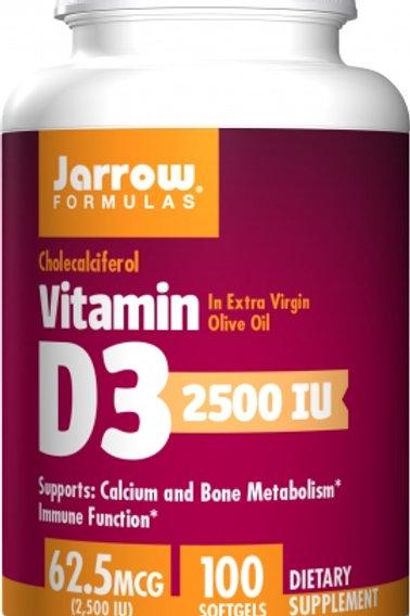 Vitamin D3 2,500IU by Jarrow 100 Softgels