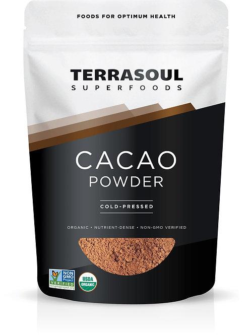 Cacao Powder 16oz by Terrasoul