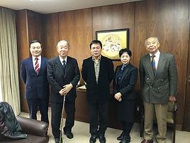 中国教科文衛体工会国際代表へ事業報告