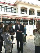 神戸市長に事業内容の報告