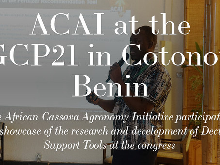 ACAI at the GCP21 in Cotonou Benin