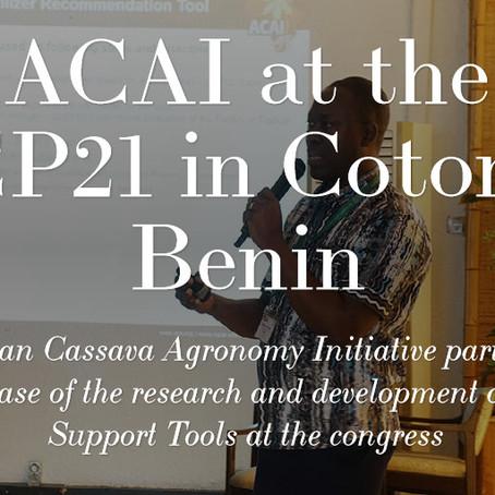 ACAI at the GCP21 in Cotonou Benin