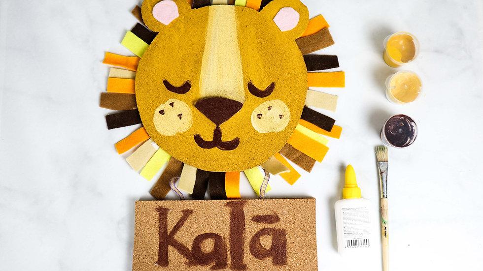 Kala DIY Art Kit: Kid's Room Lion Signage