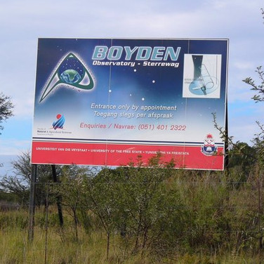 The signpost for Boyden Observatory