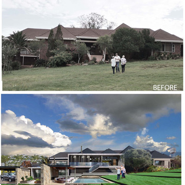 before after Northern view