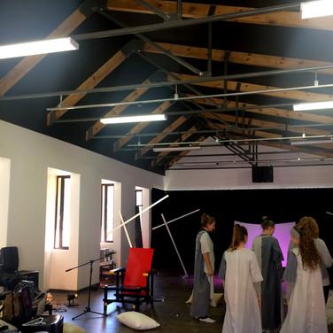 Drama class during rehearsal