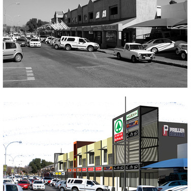 Preller Noord east before and after
