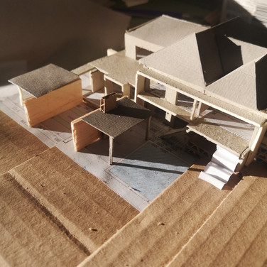 Model showing northern part