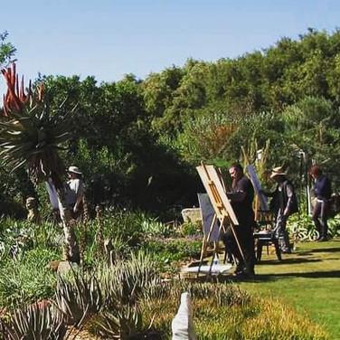 Garden as studio for artists