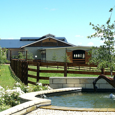Stables with water feature