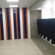 Grey boys bathroom