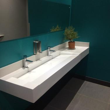 Staff bathroom interior