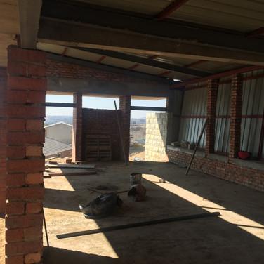 Interior during construction