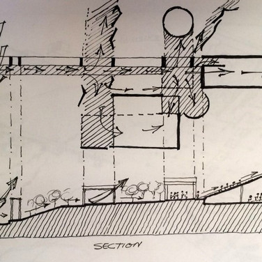 Site section and plan