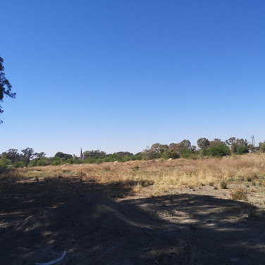 Site with Estoire in background