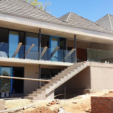 Northern balcony in progress