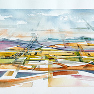 Watercolour of landscape (Jan Smit)