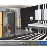 Grey bathroom men staff