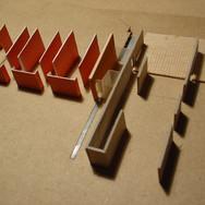 Model showing walls