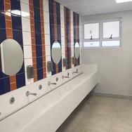 Grey bathroom boys