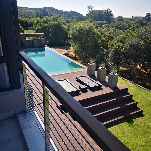 Garden seen from balcony