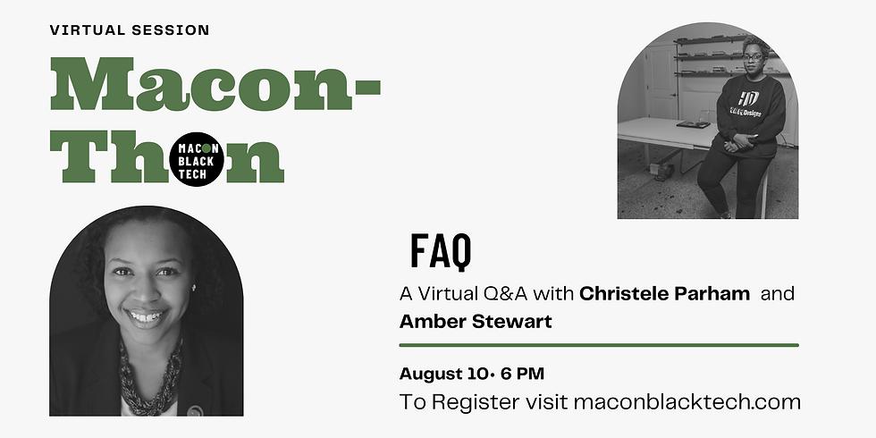 Macon-Thon FAQ Virtual Session