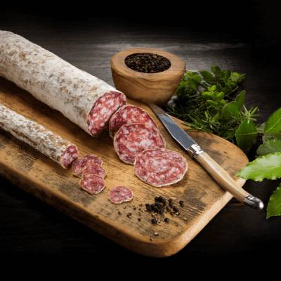 The Wooded Pig Black Pepper Salami 125g