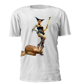 Sci-Fi Nymph Print T-shirt