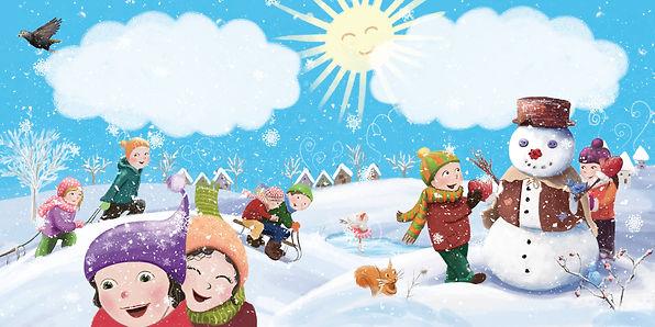 Anda Ansheen, Ansheen, illustator, ilustrator, illustrations, childrens book, picture book, illustrations for children, Bucuriile iernii