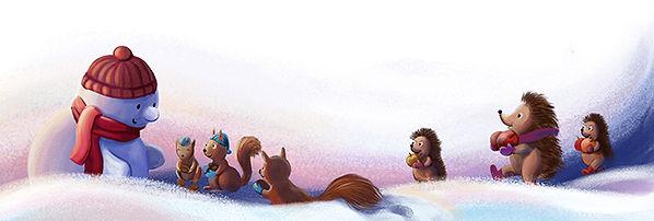 Anda Ansheen, Ansheen, illustator, ilustrator, illustrations, childrens book, picture book, illustrations for children, What Snowmen Dream Of, Andreea Demigian