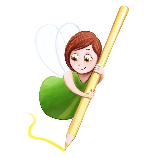 Anda Ansheen Illustration, little fairy Lia,