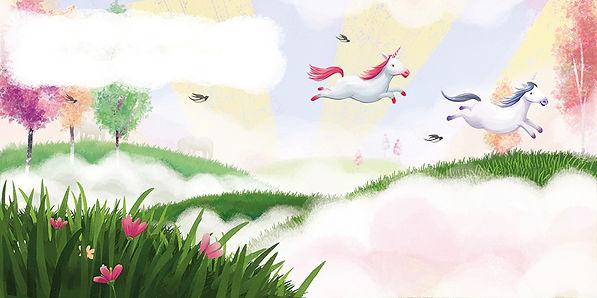 Unicorns, dragons, Anda Ansheen, Ansheen, illustrator, illustration, chilrens illutrations, picture book, childrens book
