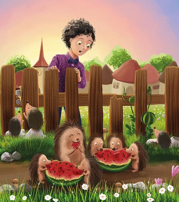 Anda Ansheen, Ansheen, illustator, ilustrator, illustrations, childrens book, picture book, illustrations for children, Copilul Verde