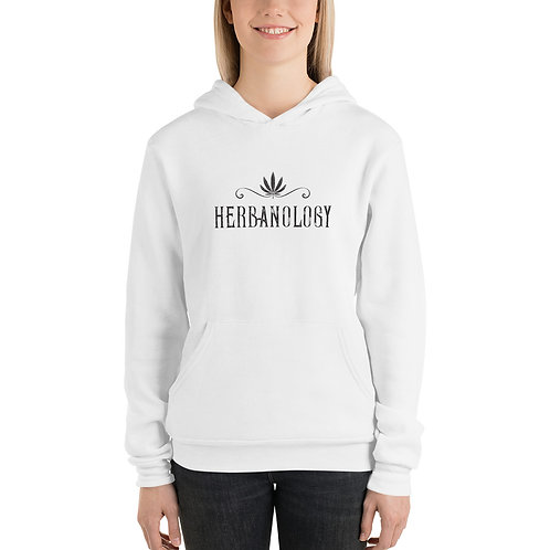 Unisex hoodie WH w/ Black Text