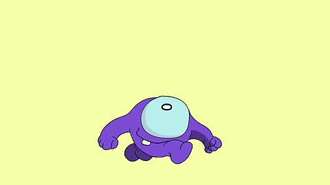 Purple dude walk