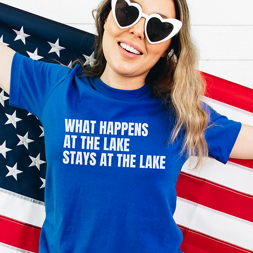 What Happens At The Lake Soft Short-Sleeve Unisex T-Shirt