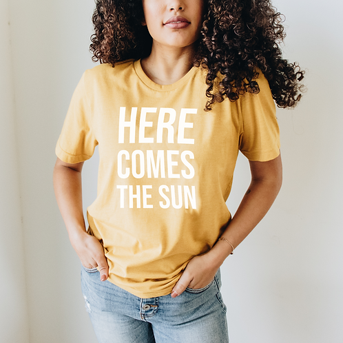 Here Comes The Sun Super Soft Short-Sleeve Unisex T-Shirt