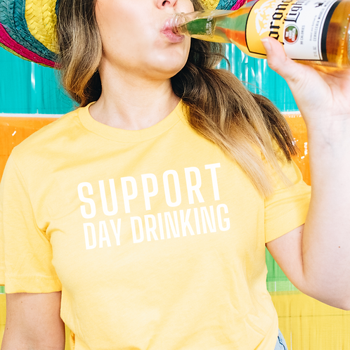 Support Day Drinking Soft Short-Sleeve Unisex T-Shirt