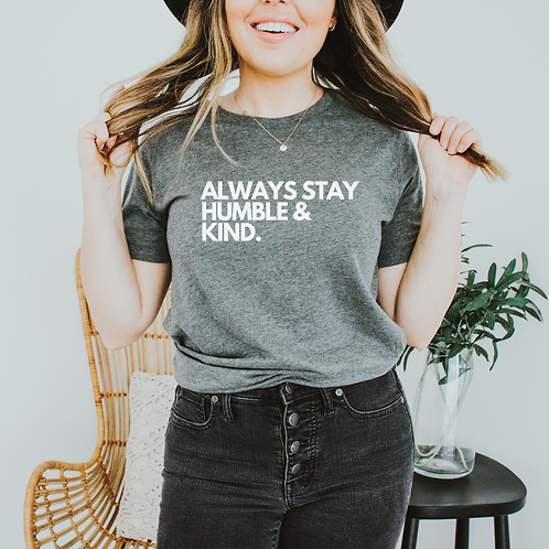 Stay Humble and Kind Soft Short-Sleeve Unisex T-Shirt