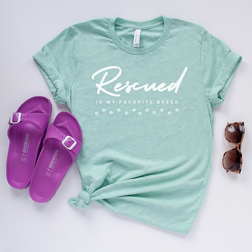Rescued Favorite Breed Soft Short-Sleeve Unisex T-Shirt