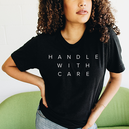 Handle With Care Soft Short-Sleeve Unisex T-Shirt