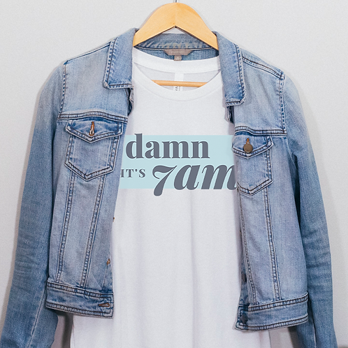 Damn It's 7am Soft Short-Sleeve Unisex T-Shirt