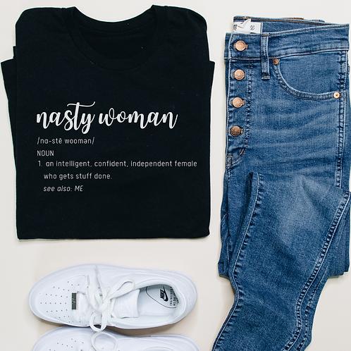 Nasty Woman Definition Soft Short-Sleeve Unisex T-Shirt